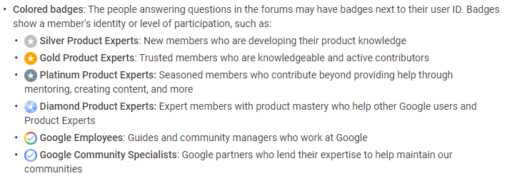 Google Product Expert Badging System